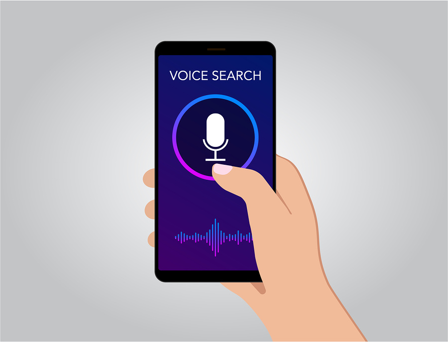 voice search graphic