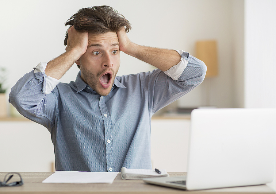 bigstock oh no frustrated man looking