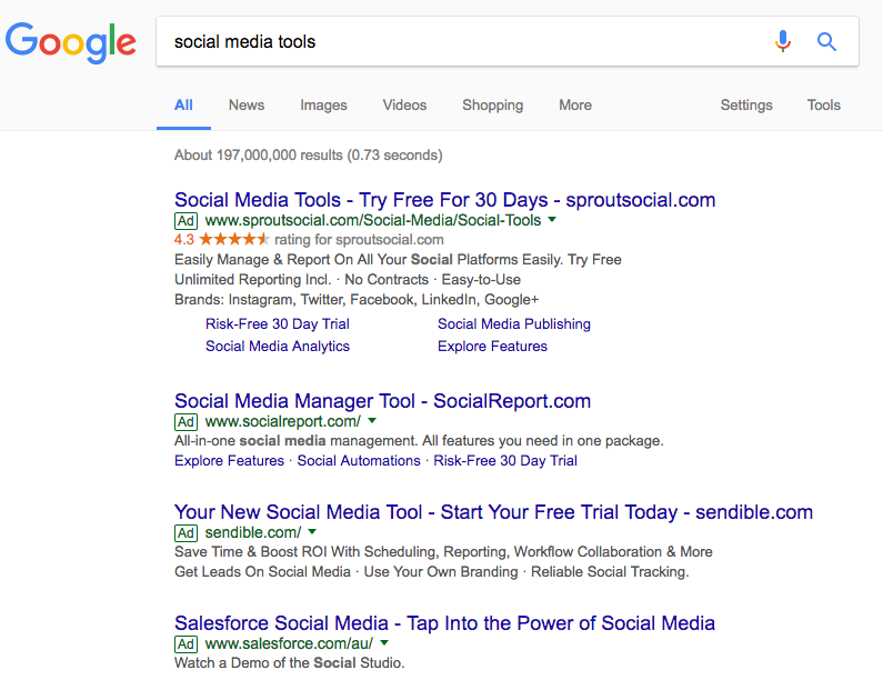 social media tools adwords